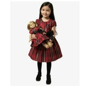 Bonnie Jean Red Plaid Dress With Beautiful Bow NEW